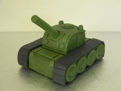 Large Army Tank Cake Topper